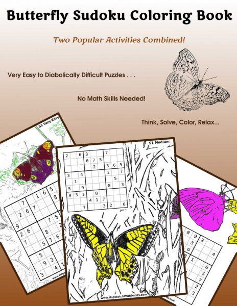 Butterfly Sudoku Coloring Book